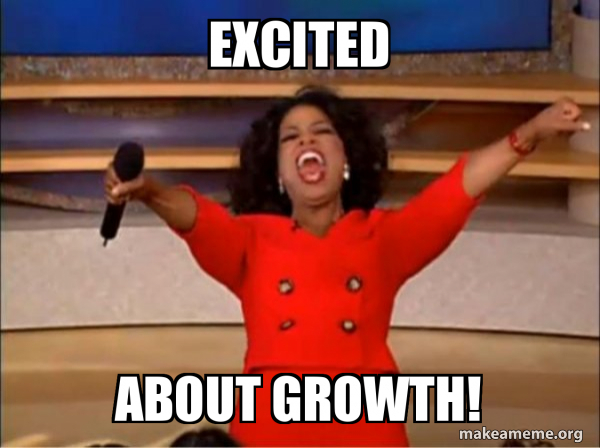 """Excited About Growth! - Oprah Winfrey """"You Get a Car"""" 